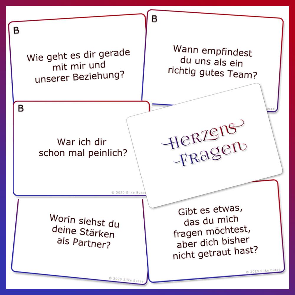 Karten HERZENS-FRAGEN in Beziehung